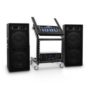 DJ PA-setti Rack Star-sarja Mars Flash Bluetooth