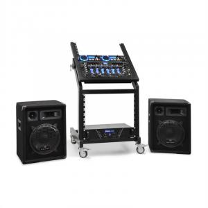 DJ PA Set Rack Star Neptune Palace Bluetooth 250 people