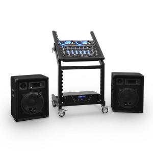 DJ PA-setti Rack Star Uranus Blues Bluetooth 250 henkilöä