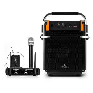 Rock Fortress Sistema Audio + Set Microfono Wireless UHF 250 Arancio
