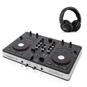 ontrol 3 USB MIDI DJ Controller Sound Card with DJ Headphones