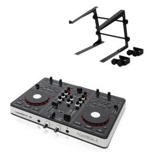 Kontrol 3 USB-MIDI DJ-ohjain musta & teline kannettavalle tietokoneelle