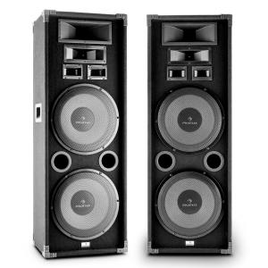 "PA-2200 Full Range Set of 2 PA Speakers 2x12"" Subwoofer 2000W Max"