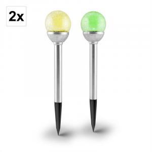 Sunshard tuinlamp solarlamp 2st RGB wisselende kleuren LED accu