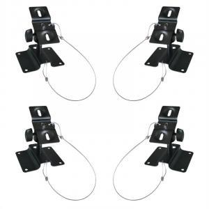 SB-01 universalt högtalarfäste 10kg svart set med 4