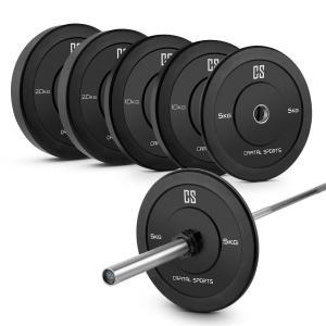 Lionbar Set Cross-Training M2 Barre d'haltères + 3 paires de disques