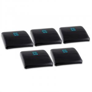 Backsill Ab Trainer Back Trainer Mat Set of 5 Black
