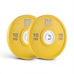 Performan Urethane Plates Coppia Pesi Dischi 15kg Gialli 2x 15 kg