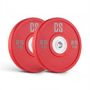 Performan Urethane Weight Plates Pair 25kg Red 2x 25 kg