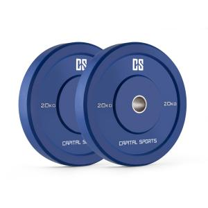 Nipton Coppia Dischi Per Sollevamento Pesi 20kg Blu 2x 20 kg