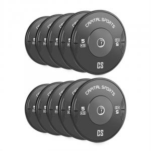 Resilior Droppable Plate Weight Plates Hard Rubber 5kg 5 Pairs
