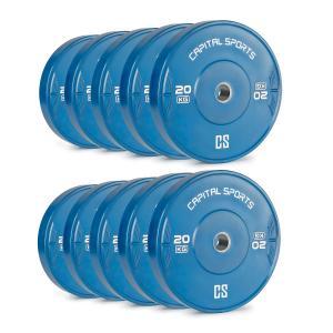 Nipton Bumper Plates Obciążniki 5 par 20kg Niebieskie Twarda guma 10x 20 kg