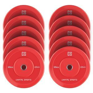 Nipton Dischi Per Sollevamento Pesi 5 Coppie da 25kg Gomma Dura R 10x 25 kg