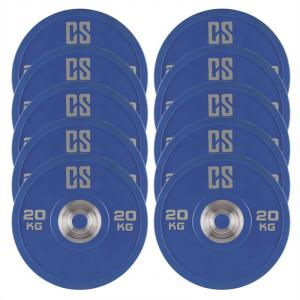 Performan Urethane Plates Weight Plates 5 Pair 20 kg Blue 10x 20 kg
