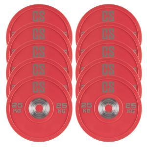 Performan Urethane Plates Weight Plates 5 Pair 25 kg Red 10x 25 kg