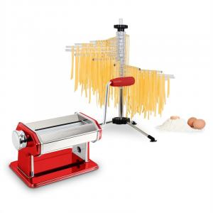 Pasta Set machine à pâtes Siena rouge & séchoir à pâtes Verona Rouge