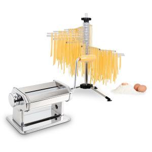 Pasta Set Siena Pasta Maker rostfritt stål & Verona Pasta Torkare Silver