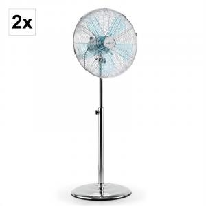 "Full Metal Blizzard Pedestal Fan 2-Piece Set Chromed 41 cm (16"") 60W"