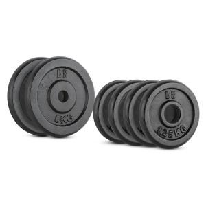 IPB 15 kg Set Juego de discos de peso 4 x 1,25 kg + 2 x 5 kg 30 mm