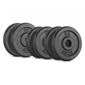 IPB 20 kg Set Barbell Weights Set 4 x 2.5 kg + 2 x 5 kg30 mm