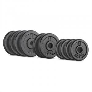 IPB 25 kg Set Barbell Weights Set 4 x 1.25 kg + 2 x 2.5 kg + 4 x 5 kg