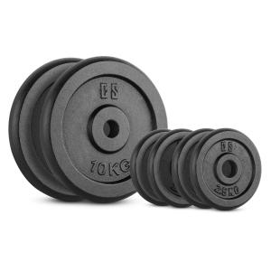 IPB 30 kg Set Barbell Weights Set 4 x 2.5 kg + 2 x 10 kg 30 mm