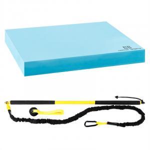 Riprider zestaw drążek z pętlą + mata do balansowania opór 9 kg EVA niebieski
