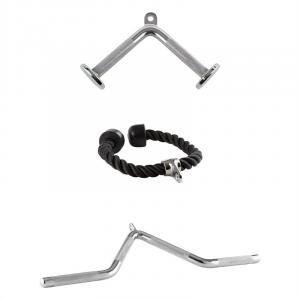 Cable Triceps 3 Set 2 x chromed steel 1 x nylon