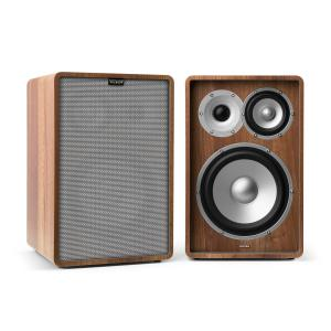 Retrospective 1978 MKII 3-Way Bookshelf Speaker walnut incl. Cover grey Walnut | Grey | No Stands