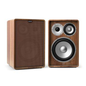Retrospective 1978 MKII 3-Way Bookshelf Speaker incl. Cover grey Walnut | Brown | No Stands