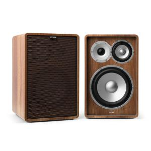 Retrospective 1978 MKII 3-Way Bookshelf Speaker walnut incl. Cover dark brown Walnut | Black | No Stands