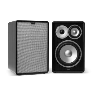 Retrospective 1978 MKII 3-Way Bookshelf Speaker black incl. Cover grey Black | Grey | No Stands