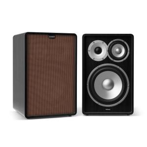 Retrospective 1978 MKII 3-Way Bookshelf Speaker black incl. Cover brown Black | Brown | No Stands