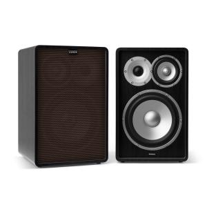 Retrospective 1978 MKII 3-Way Bookshelf Speaker black incl. Cover dark brown Black | Black | No Stands