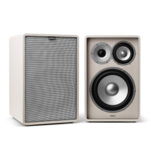 Retrospective 1978 MKII 3-Way Bookshelf Speaker white incl. Cover grey White | Grey | No Stands