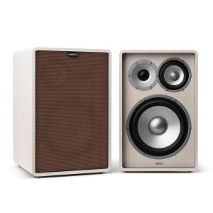 Retrospective 1978 MKII 3-Way Bookshelf Speaker white incl. Cover brown White | Brown | No Stands