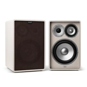 Retrospective 1978 MKII 3-Way Bookshelf Speaker white incl. Cover dark brown White | Black | No Stands