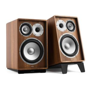 RETROSPECTIVE 1978 MKII - Three-Way Bookshelf Speaker Pair walnut/black Walnut | No Cover | Black