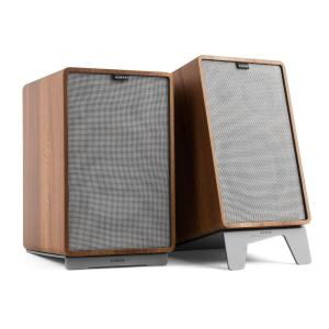 Retrospective 1978 MKII 3-Way Bookshelf Speaker walnut incl. Cover grey Walnut | Grey | Grey