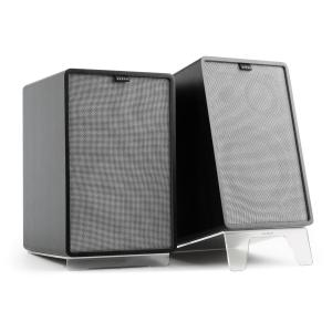 Retrospective 1978 MKII 3-Way Bookshelf Speaker black Cover grey Black | Grey | Transparent