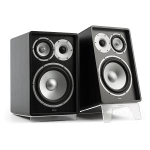 RETROSPECTIVE 1978 MKII - Three-Way Bookshelf Speaker Pair black/transparent Black | No Cover | Transparent