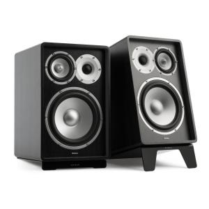 RETROSPECTIVE 1978 MKII - Three-Way Bookshelf Speaker Pair black/black Black | No Cover | Black