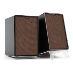 Retrospective 1978 MKII 3-Way Bookshelf Speaker black incl. Cover brown Black | Brown | Transparent