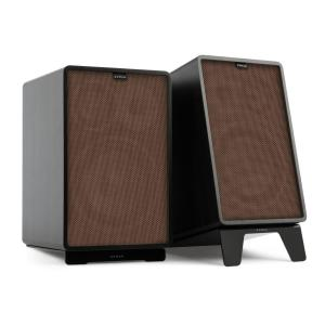 Retrospective 1978 MKII 3-Way Bookshelf Speaker black incl. Cover brown Black | Brown | Black