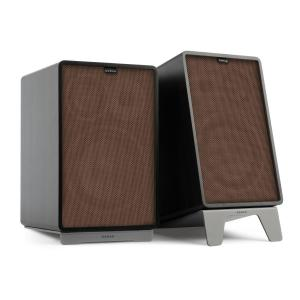 Retrospective 1978 MKII 3-Way Bookshelf Speaker black incl. Cover brown Black | Brown | Grey