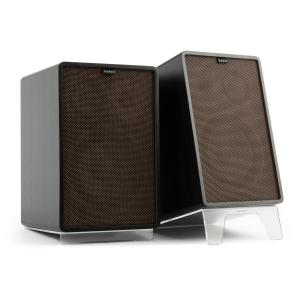 Retrospective 1978 MKII 3-Way Bookshelf Speaker black incl. Cover dark brown Black | Black | Transparent