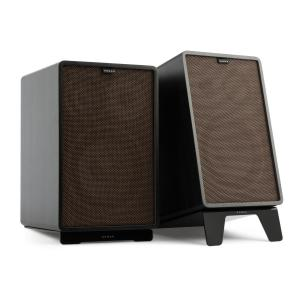Retrospective 1978 MKII 3-Way Bookshelf Speaker black incl. Cover dark brown Black | Black | Black