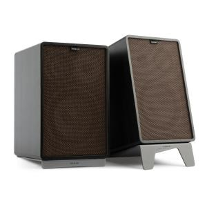 Retrospective 1978 MKII 3-Way Bookshelf Speaker black incl. Cover dark brown Black | Black | Grey