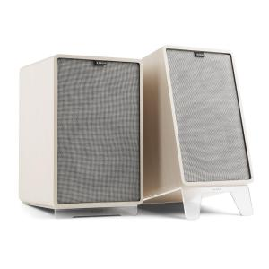 Retrospective 1978 MKII 3-Way Bookshelf Speaker white incl. gray Cover White | Grey | Transparent