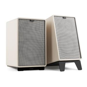 Retrospective 1978 MKII 3-Way Bookshelf Speaker white incl. grey Cover White | Grey | Black